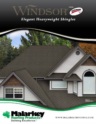Gruwell Roofing PDF - Windsor heavyweight shingles with Scotchgard brochure