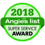Gruwell Roofing is the proud recipient of the 2018 Angie's List Super Service Award