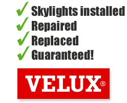 Velux skylights installed, repaired, replaced and guaranteed by Gruwell Roofing