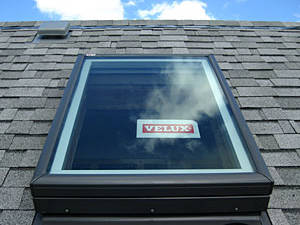 example of skylight installation by Gruwell Roofing
