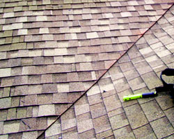 Example of restored roof after roof repair by Gruwell Roofing